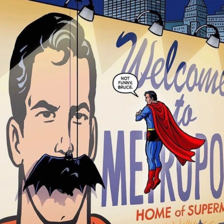 Superhero humor