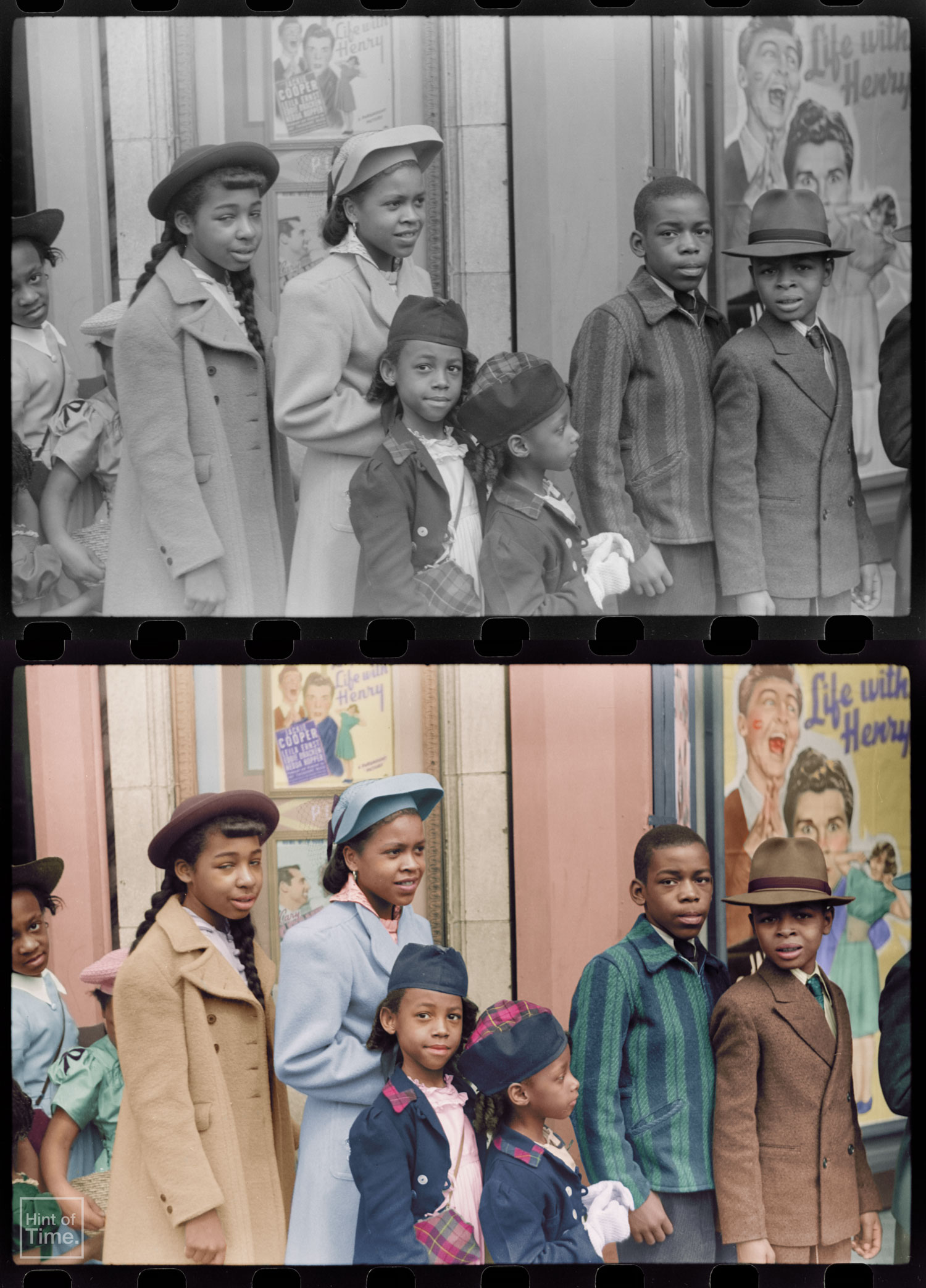 Impressive colorization skills - Queueing up at the cinema in Chicago in 1941