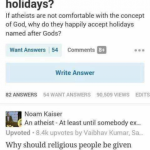 The perfect answer to a religious loony