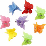 These tiny butterfly hair clips that could only hold a little strand of hair
