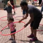 Hula hoops with dad
