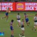 Flyin' Liam Ryan launches himself to take a Mark of the Year Contender in the AFL