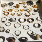 35 rings found on the beach