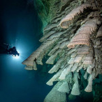 Scary stalactites beneath the ocean that make me nervous