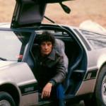 Jim Varney in his Delorean, 1984