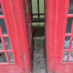 Breaking the expensive leaded glass of historical phone boxes and using them as trash cans. Even though there is a bin 6 feet to the left