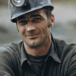 A miner waiting to go to work during the night shift at the Virginia- Pocahontas Coal Company mine, 1974