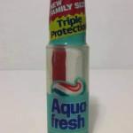 Aqua Fresh in the push bottle