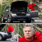 When Macgyver can't fix his car 😩😭