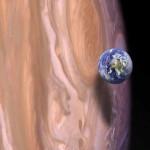 Size of Earth vs size of Jupiter