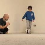 Kid finally does Soccer Trick and her Dad is so proud of her