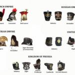 Military hats and helmets of Napoleonic wars
