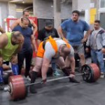 Peiman Maheripour lifts 492 kg/1085 lbs in preparation to take the World Record