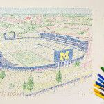 The Big House - handwritten with every home win since 1927