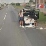 Roadside paint job
