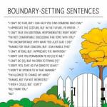 Boundary setting sentences