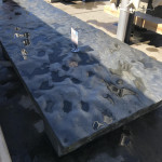 Outdoor tables with rough surfaces
