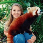 Bindi Irwin with Australia Zoo's Red Panda, Ravi