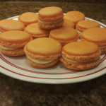 Made a perfect batch of orange creamsicle macarons. None of them cracked I'm so hyped