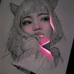 This fluorescent drawing