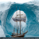 Sailing ship in Greenland