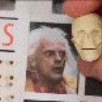 How miniature sculptures are made (figure is Doctor Emmett Brown)