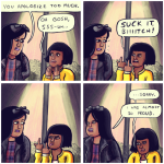 Sorry, this is a comic, sorry