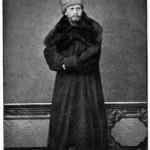 A youngish Tchaikovsky sporting a massive fur coat, 1867