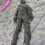 A human made from seaweed