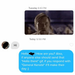 Apparently she's not a fan of Star Wars