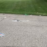 People throwing trash in the middle of the road Indianapolis Indiana