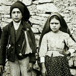 Saint Francisco and Jacinta Marto, two of the visionary children of Fatima who received the apparitions of Our Lady and the Angel of Portugal