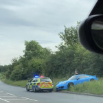 What going around 100mph down a 40mph road gets you.(no-one was hurt )