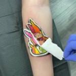 Louise tattoo reveal (@mr.sticker.tattoo)