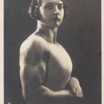 German strongwoman Luisita Leers displays her physique (1925)