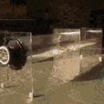 Styrofoam balls reacting to various sound frequencies
