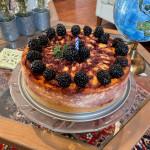 Homemade Blackberry Cheesecake