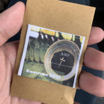 Our local church gave us packets of ash to anoint family members who can't come to church