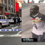 2 Shot, Including Toddler, in Times Square