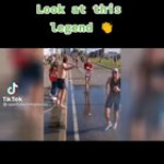 Man hoses down runners