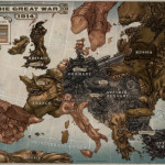 """Map of Europe from the novel """"Leviathan"""". It is a novel based on an alternative history of World War 1"""