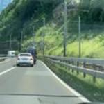 Idiotic driver from switzerland