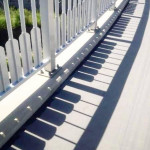Fence shadows that look like a piano