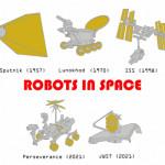 Robots in Space Enamel Pins!