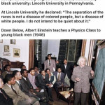 Racism is dumb and Einstein was not dumb