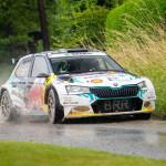 All-electric Skoda rally car takes podium