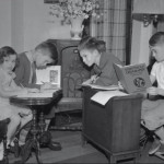 Kids during polio outbreak in the 1940's did remote learning as teachers taught lessons over the radio