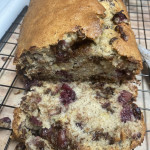 Chocolate Cherry Banana Bread made with fresh ripe bananas and cherries! Can't believe I never tried this before!