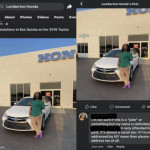 """Honda dealership gives black customer stereotypical racist name while giving """"congrats"""" on her new car purchase"""