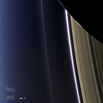 The final image taken by the Cassini space probe before it slammed into Saturn